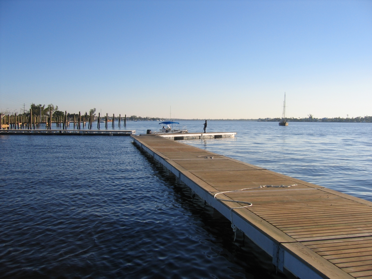 Run of floating dock rentals being set up by Allsports Productions