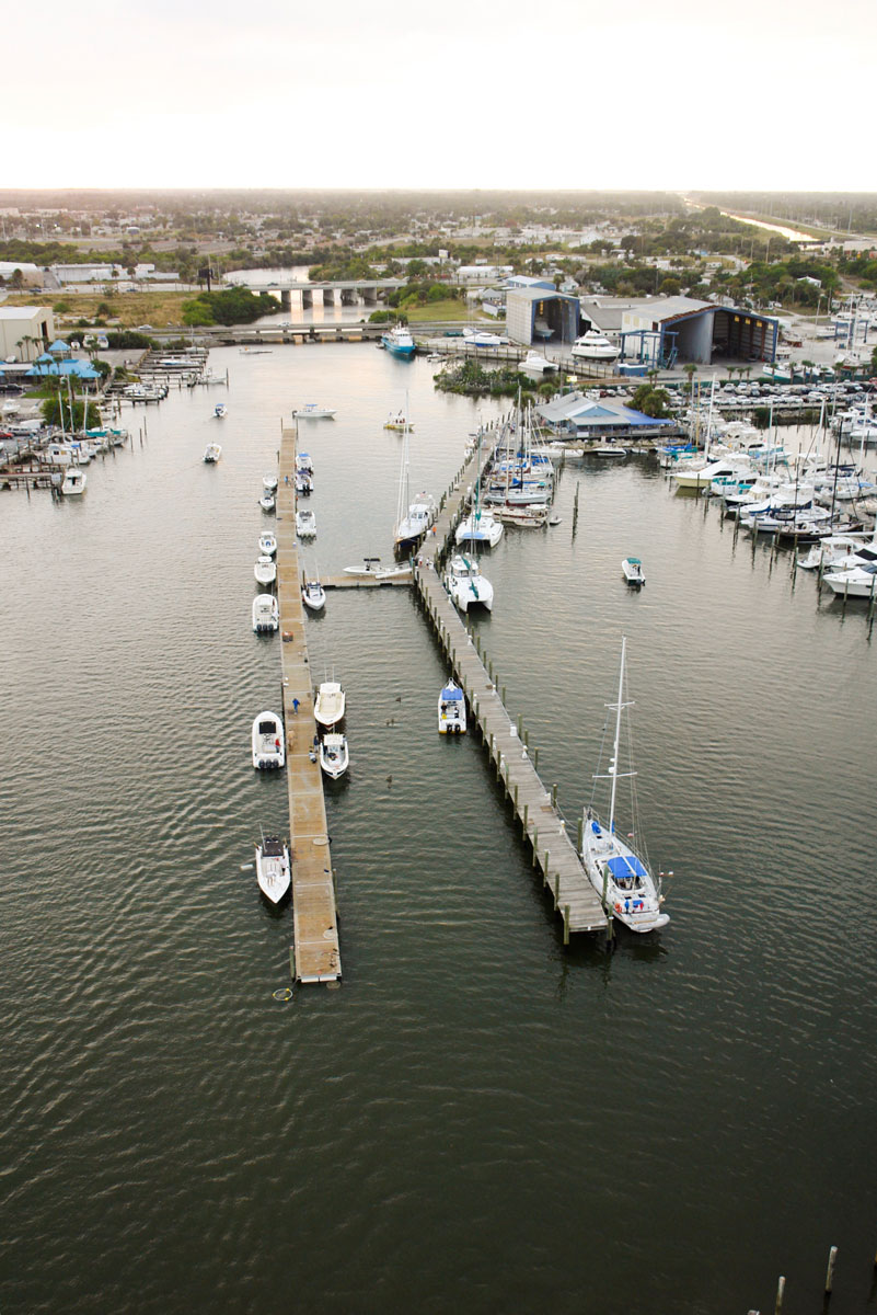 SKA Fishing Tournament Floating Docks - Aerial shot towards land - Allsports Productions