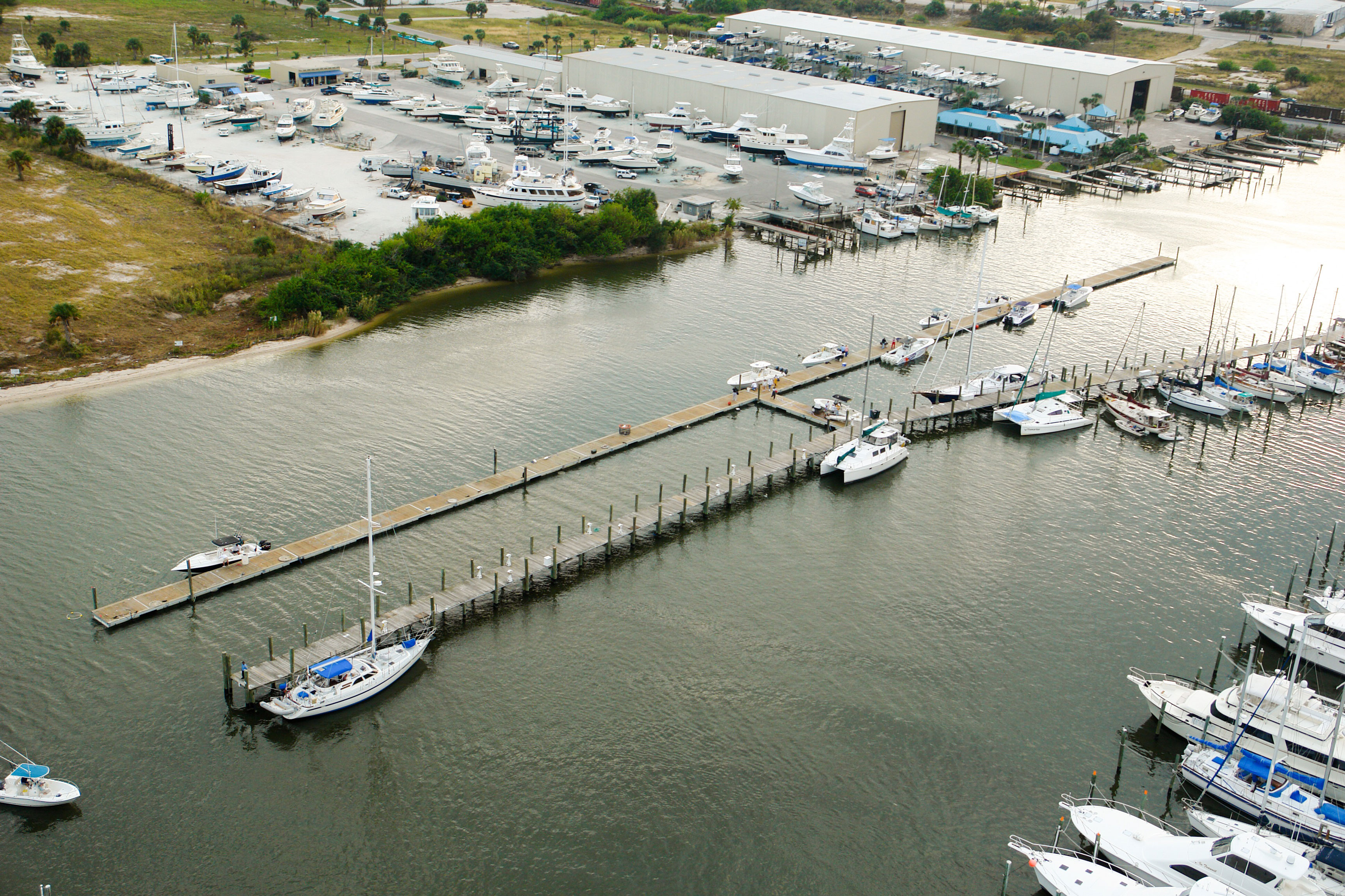 SKA Fishing Tournament Floating Docks - Aerial side shot - Allsports Productions