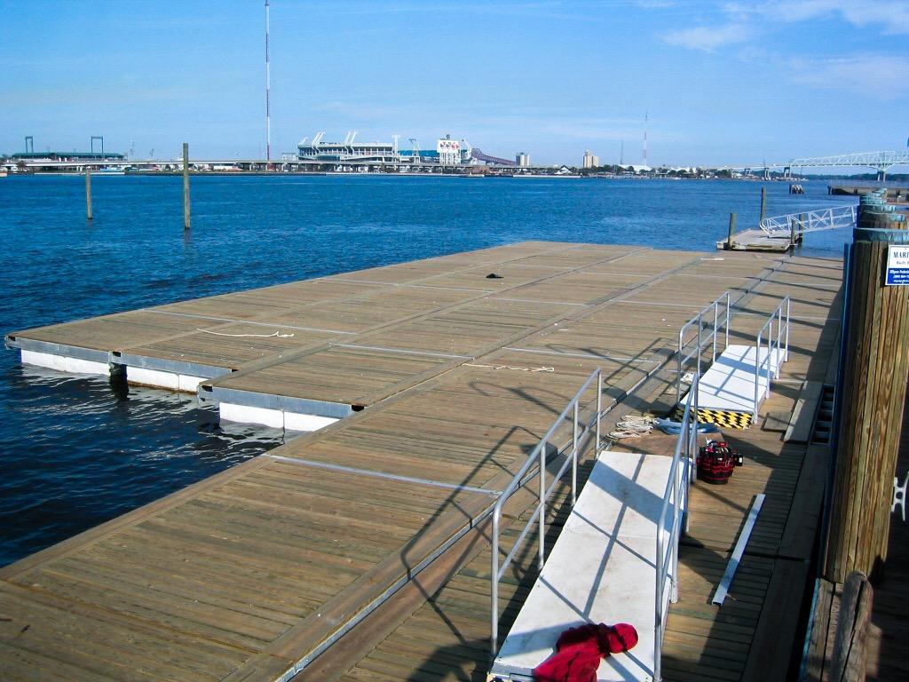 Super Bowl XXXLX - Disassembled Floating Docks - Allsports Productions