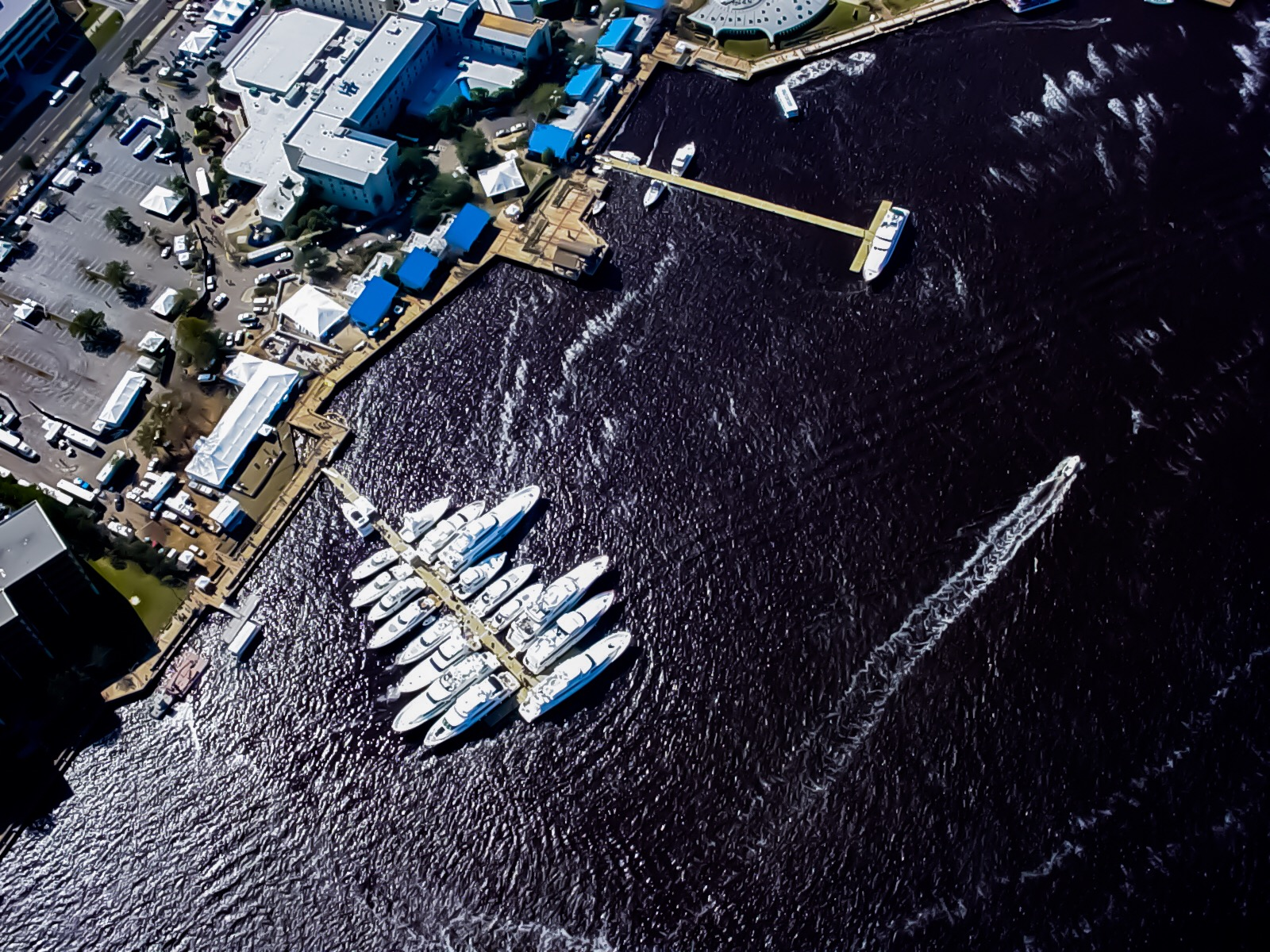 Super Bowl XXXLX - Aerial Shot with Yachts - Allsports Productions