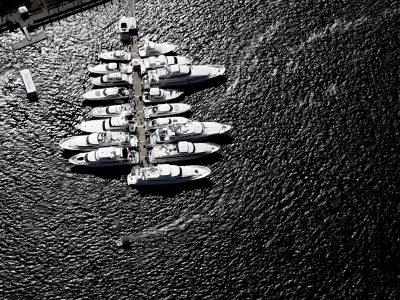 Superbowl XXXLX Floating Docks by Allsports Productions Portfolio Cover