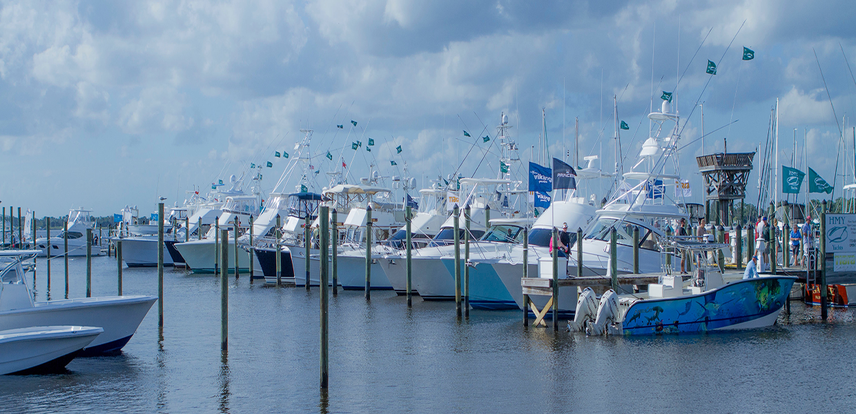 Sportfishing boats at the Stuart Boat Show by Allsports Productions